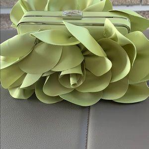 Lime green evening bag